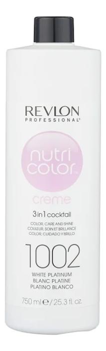 Краска для волос Nutri Color Creme 1002 White Platinum: Краска 750мл фото
