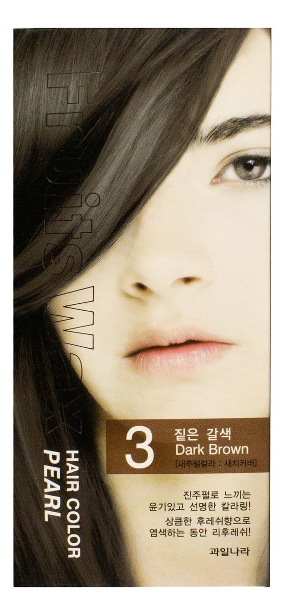 Купить Краска для волос Fruits Wax Pearl Hair Color 60мл: No 03, Welcos