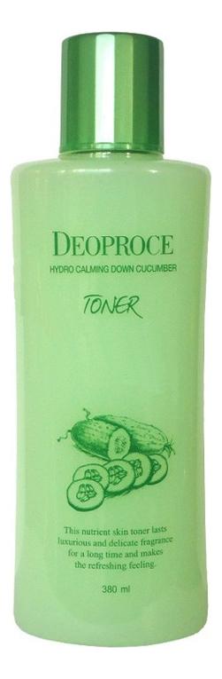 Купить Успокаивающий тонер для лица с экстрактом огурца Hydro Calming Down Cucumber Toner 380мл, Deoproce
