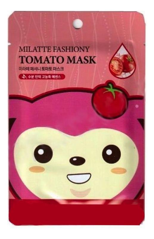 Фото - Маска тканевая для лица с экстрактом томата Fashiony Tomato Mask Sheet 21г маска на тканевой основе для лица с экстрактом красного женьшеня milatte fashiony ginseng mask sheet