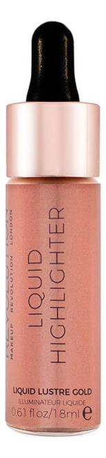 Купить Жидкий хайлайтер для лица Liquid Highlighter 18мл: Liquid Lustre Gold, Makeup Revolution