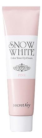 Крем для лица осветляющий Snow White Color Tone Up Cream Pink 30мл цена и фото