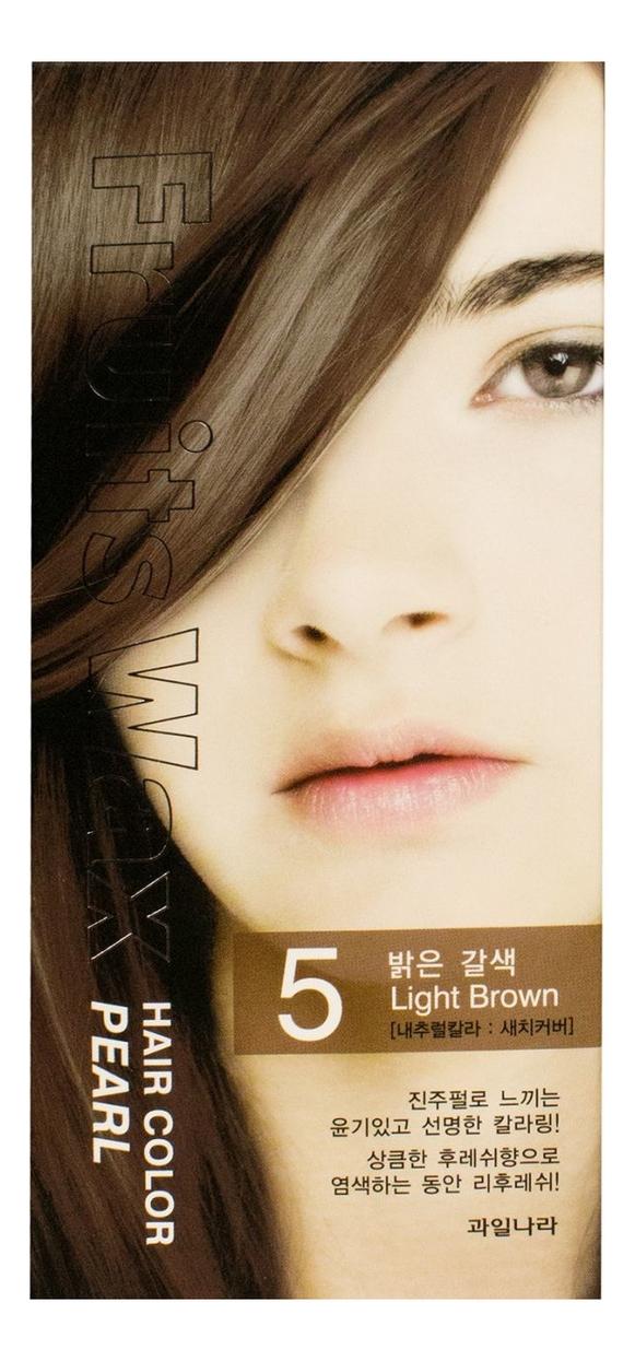 Фото - Краска для волос Fruits Wax Pearl Hair Color 60мл: No 05 краска для волос fruits wax pearl hair color 60мл no 99