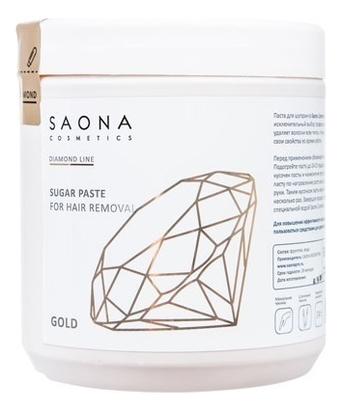 Cахарная паста для шугаринга Diamond Line Sugar Paste For Hair Removal Gold 1000г