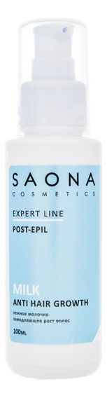 Купить Молочко замедляющее рост волос Expert Line Post-Epil Milk Anti Hair Growth 100мл, Saona Cosmetics