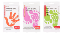 SHIFEI Набор масок Foot Mask Natural (маска д/ног Exfoliation Within 7 Days 2*20мл + маска д/ног Foot and Nail Moisture Pack 2*20мл + маска д/рук Hand and Nail Moisture Pack 2*20мл)