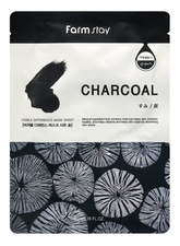 Farm Stay Тканевая маска с древесным углем Visible Difference Mask Sheet Charcoal 23мл