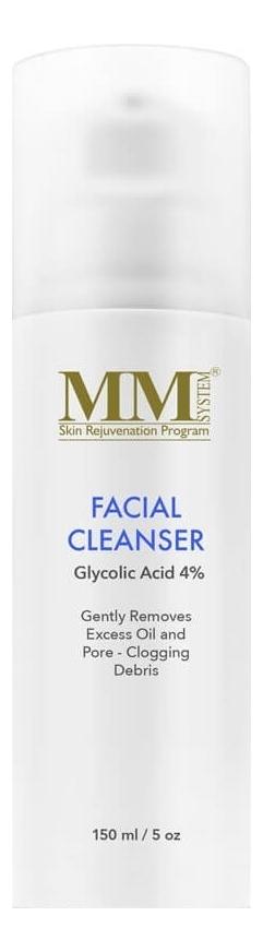 Очищающий гель для лица и тела с гликолевой кислотой Facial Cleanser 4% 150мл недорого