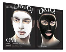 Double Dare OMG! Маска для лица двухкомпонентная Man In Black Facial Mask