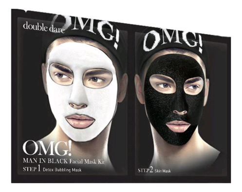 Фото - Маска для лица двухкомпонентная Man In Black Facial Mask: Маска 5шт маска четырехкомпонентная для ухода за кожей лица double dare omg 4in1 kit zone system mask 1 мл