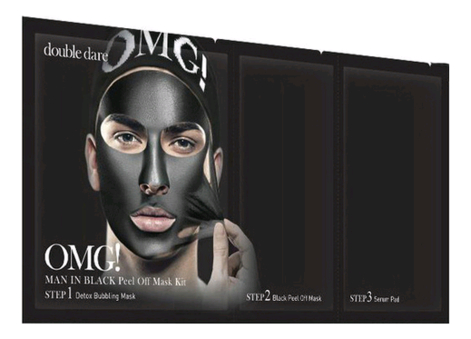 Маска для лица трехкомпонентная Man In Black Peel Off Mask: Маска 5шт недорого