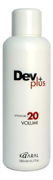 Купить Осветляющая эмульсия для окрашивания волос 6% Dev Plus: Эмульсия 1000мл, KAARAL