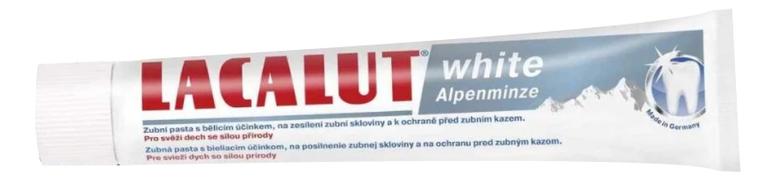 Зубная паста White Alpenminze 75мл lacalut white