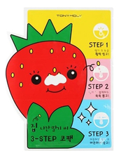 Tony Moly Очищающие патчи для носа Runaway Srawberry Seeds 3-Step Nose Pack 6г
