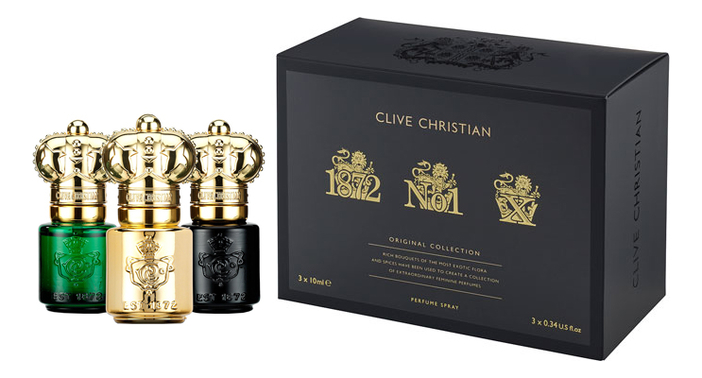 Clive Christian Original Collection Gift Set Feminine: духи 3*10мл (№1 For Women, X 1872 Women)