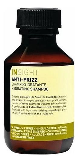 Разглаживающий шампунь для волос с хлопковым маслом Anti-Frizz Hydrating Shampoo: Шампунь 100мл шампунь для дисциплины непослушных и вьющихся волос insight professional anti frizz hydrating shampoo travel size 100 мл
