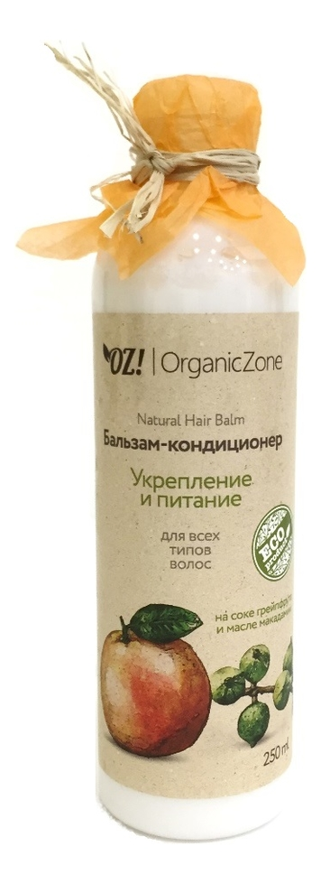 Купить Бальзам-кондиционер для волос Укрепление и питание Natural Hair Balm 250мл: Бальзам-кондиционер 250мл, OrganicZone