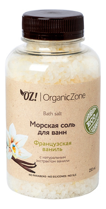 Купить Соль для ванн Французская ваниль Bath Salt 250мл: Соль 250мл, OrganicZone