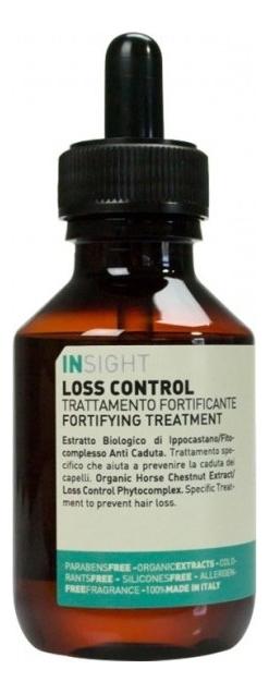 Лосьон против выпадения волос Loss Control Fortifying Treatment 100мл insight шампунь loss control fortifying укрепляющий против выпадения волос 400 мл