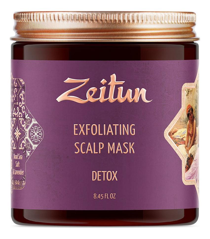 Купить Скраб-маска для кожи головы и волос с солью Мертвого моря Exfoliating Scalp Mask Detox 250мл, Zeitun