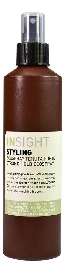 Купить Лак для волос с маслом хлопка Styling Strong Hold Ecospray 250мл, INSIGHT
