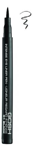 Подводка-фломастер для глаз Intense Eye Liner Pen 1мл: No 01 gosh 24h pro liner