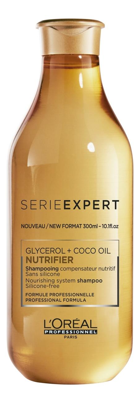 Купить Шампунь для питания сухих и ослабленных волос Serie Expert Nutrifier Glycerol + Coco Oil Shampoo: Шампунь 300мл, L'oreal
