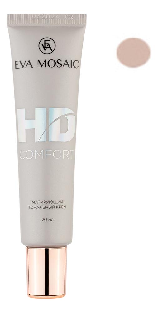 Купить Матирующий тональный крем для лица HD Comfort 20мл: 01 Фарфор, Eva Mosaic