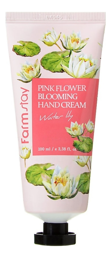 Крем для рук Pink Flower Blooming Hand Cream 100мл: Water Lily