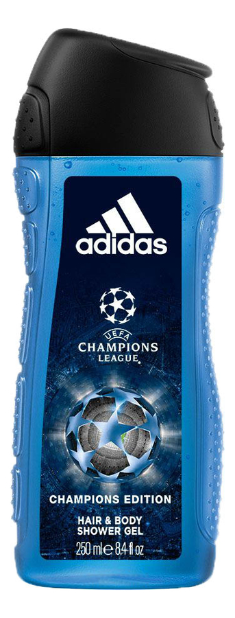 Гель для тела и волос UEFA Champions Edition Hair & Body Shower Gel 250мл: гель для душа 2 в 1 250мл adidas active start гель муж 250мл