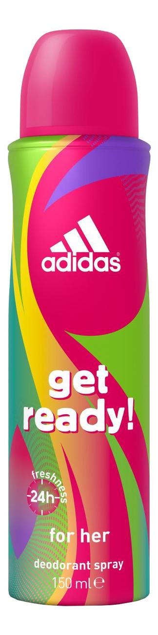 Купить Дезодорант-спрей Get Ready For Her Deodorant Spray 150мл: дезодорант 150мл, Adidas Get Ready! For Her