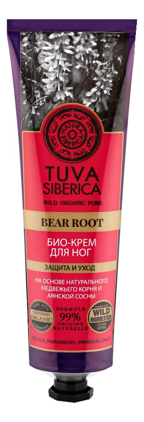 Био-крем для ног Tuva Siberica Bear Root 75мл