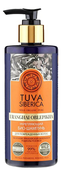 Био-шампунь для волос укрепляющий Tuva Siberica Uranghai Oblepikha 300мл