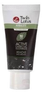 Купить Зубная паста с активированным углем Herbaliste Active Charcoal Toothpaste: Зубная паста 50г, Twin Lotus