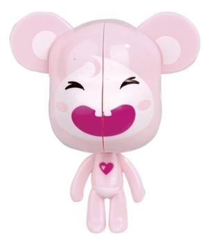 Держатель для зубных щеток Мышь розовая