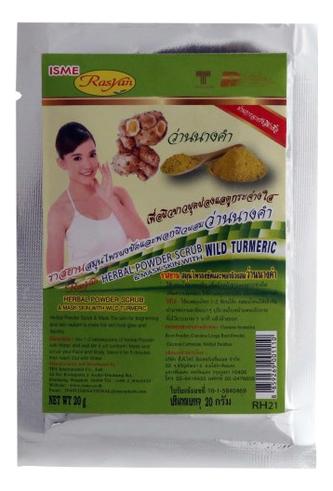 Фото - Порошковая маска-скраб для лица и тела Rasyan Herbal Powder Scrub Wild Turmeric 20г румяна в шариках для лица powder balls 20г no 04