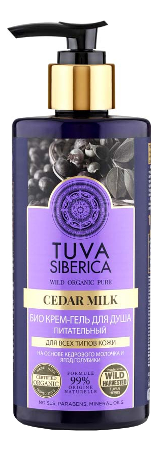 Био крем-гель для душа Tuva Siberica Cedar Milk 300мл