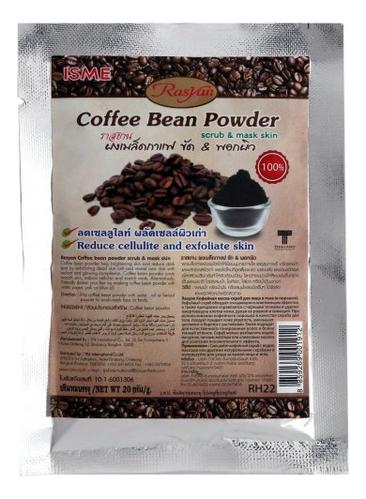 Порошковая маска-скраб для тела против целлюлита Rasyan Coffee Bean Powder 20г скраб из спитого кофе от целлюлита