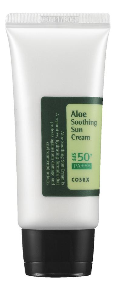 Солнцезащитный крем для лица с экстрактом алоэ Aloe Soothing Sun Cream SPF50 PA+++ 50мл питательный солнцезащитный крем комфорт для лица sun secure invisible finish comfort cream spf50 50мл