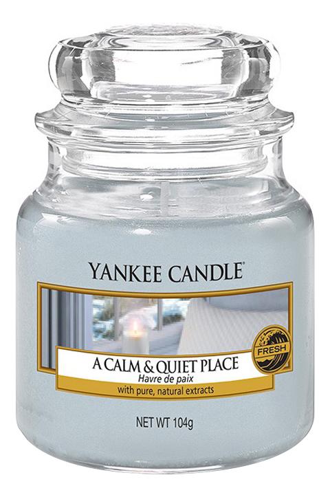 Купить Ароматическая свеча Calm & Quiet Place: Свеча 104г, Ароматическая свеча Calm & Quiet Place, Yankee Candle