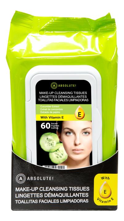 Салфетки для снятия макияжа Make-Up Cleansing Tissues Cucumber: 60шт