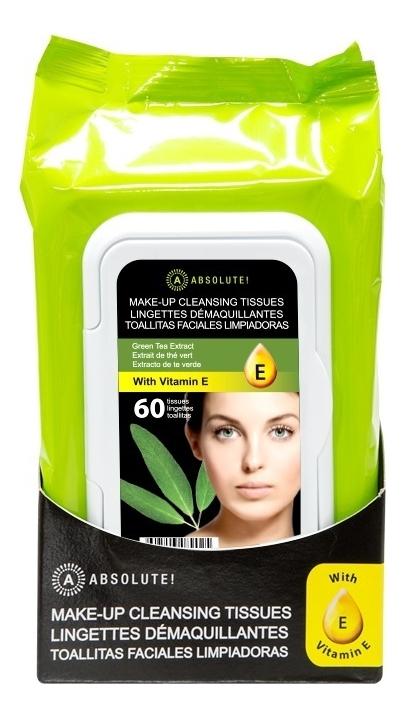 Салфетки для снятия макияжа Make-Up Cleansing Tissues Green Tea 60шт: 60шт