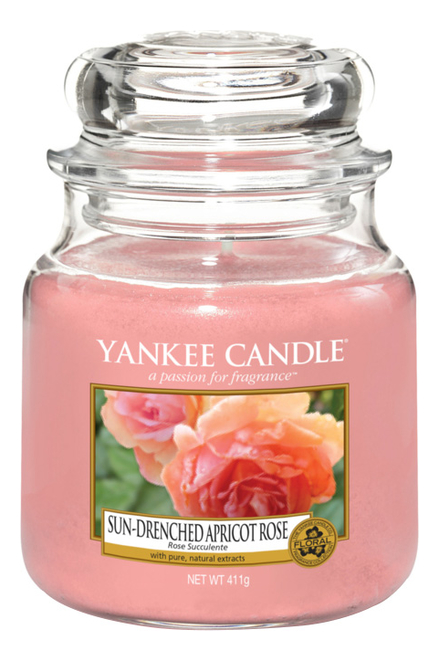 Ароматическая свеча Sun-Drenched Apricot Rose: Свеча 411г фото