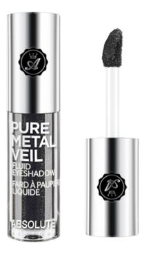 Жидкие тени для век с металлическим эффектом Pure Metal Veil 1,5мл: AMV11 Blackout