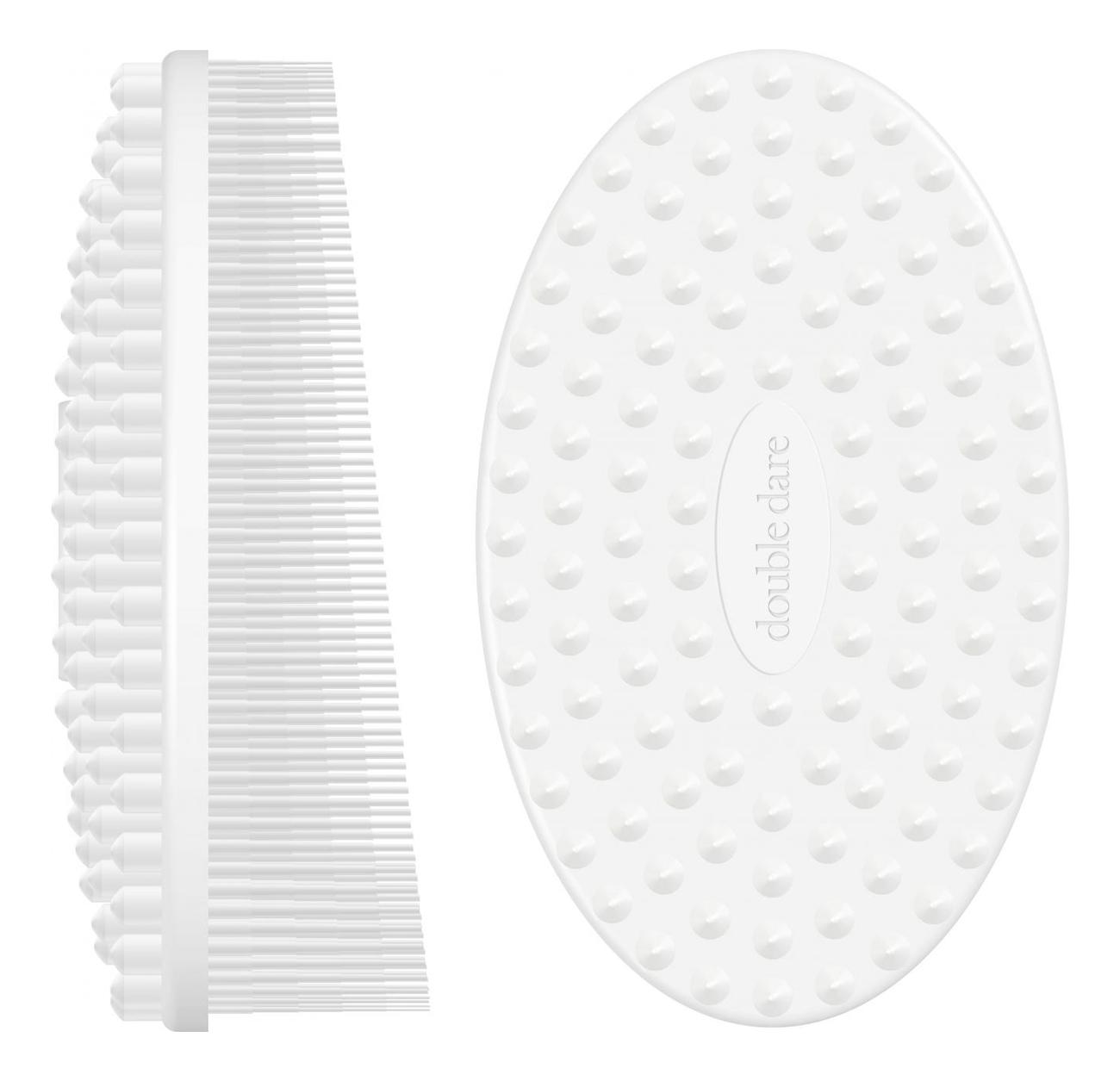 Массажная силиконовая щетка I.M. Buddy: Белая фото