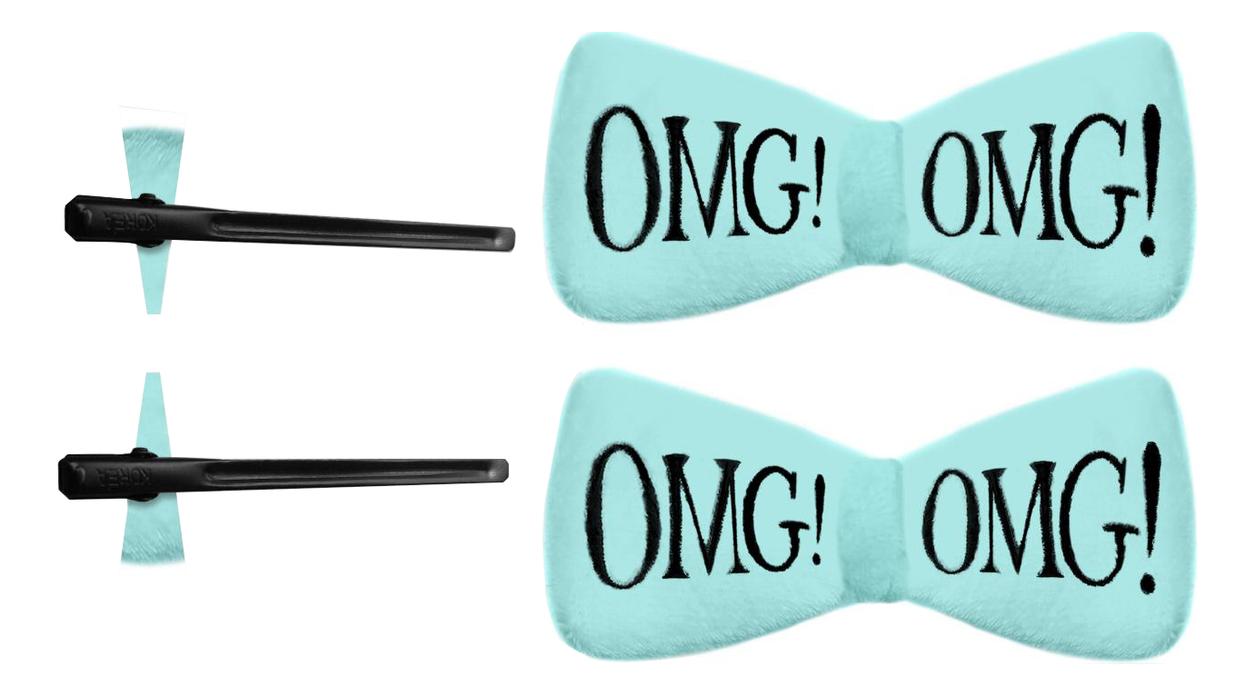 Купить Заколки для волос OMG! 2шт: Мятные, Double Dare OMG!