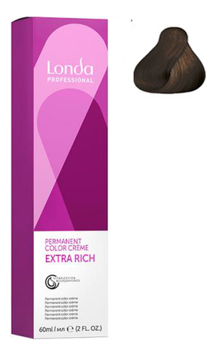 Крем-краска для волос Londacolor 60мл: 4/71 Шатен коричнево-пепельный цена 2017