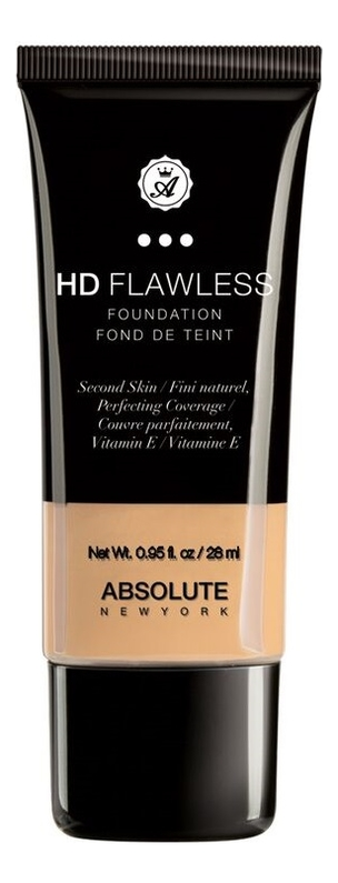 Купить Тональная основа для лица HD Flawless Fluid Foundation 28мл: AHDF02 Sand, ABSOLUTE New York