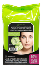 ABSOLUTE New York Салфетки для снятия макияжа Make-Up Cleansing Tissues Cucumber