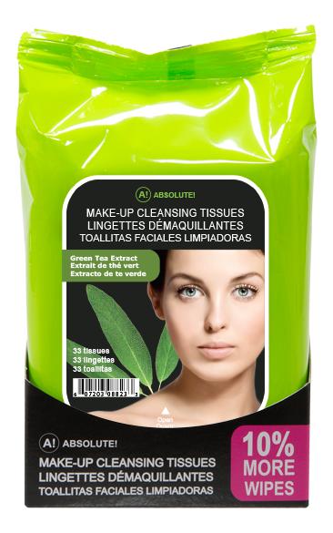 Салфетки для снятия макияжа Make-Up Cleansing Tissues Green Tea: 33шт